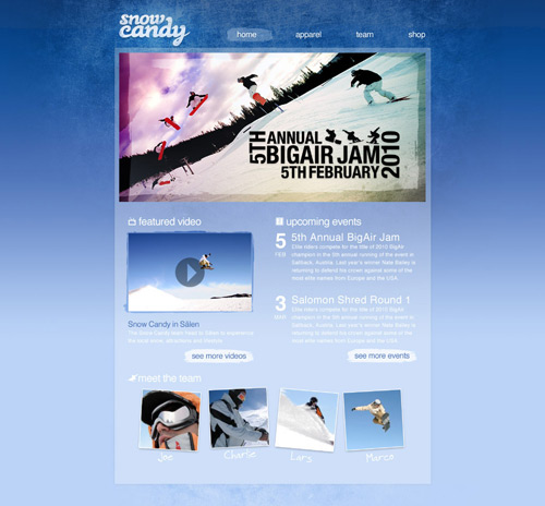 Create a Gnarly Snowboarding Themed Web Design